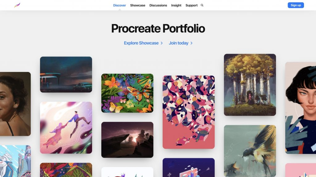 procreate_application_site_utilisant_le_art